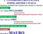 """I° Congresso Provinciale di Chieti  dei """"Popolari per l'Italia"""""""