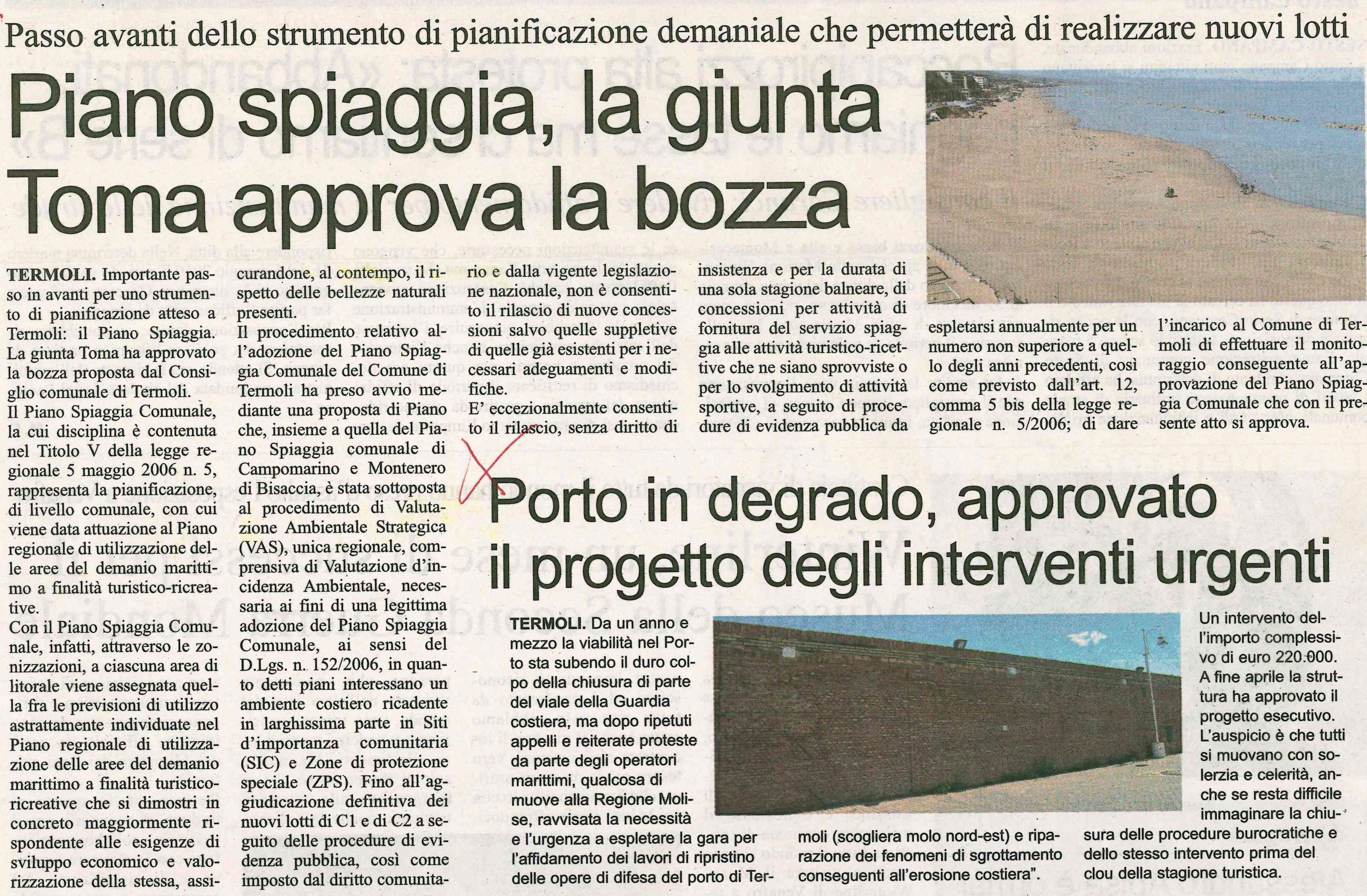 Piano Spiaggie e Riqualificazione del porto